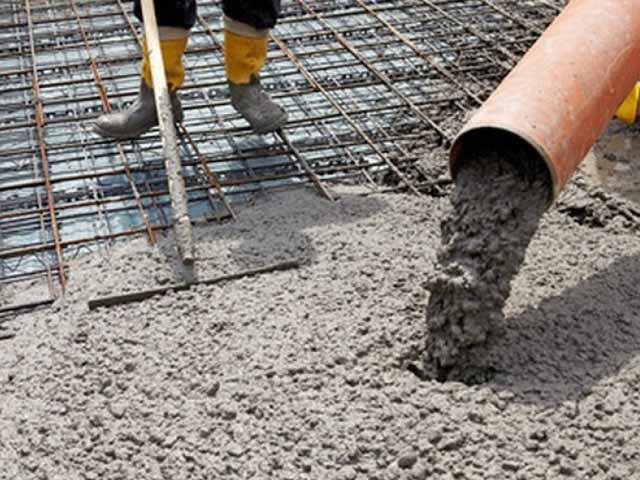Так заливается бетоном фундамент плита для гаража