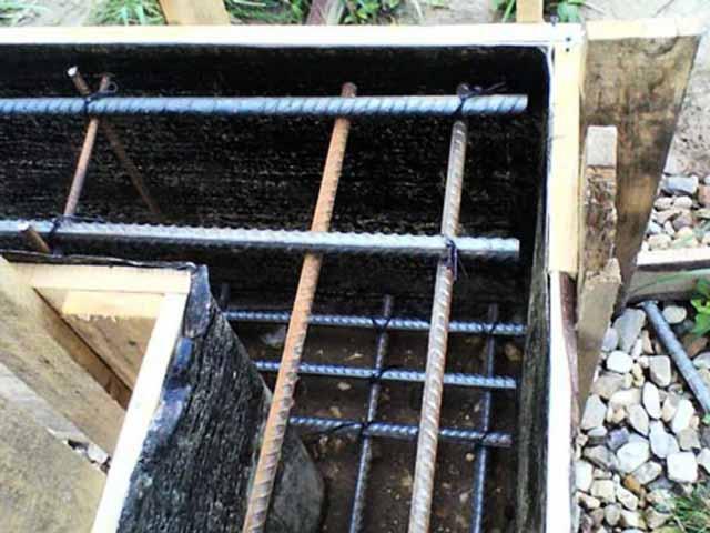 Глубина ленточного фундамента гораздо больше, чем толщина плиты для гаража