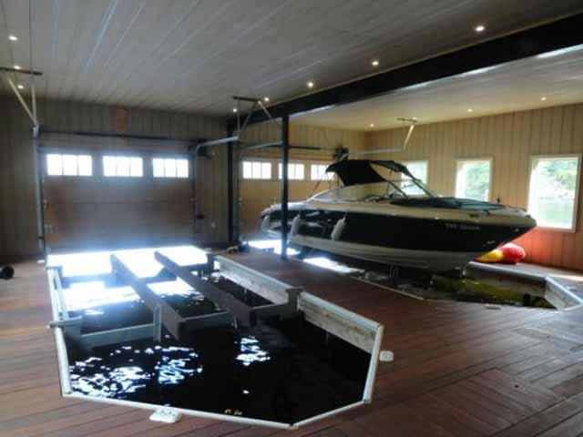 лодочный гараж дизайн