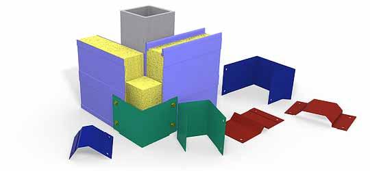 Разборной гараж из сэндвич-панелей - фасонные элементы
