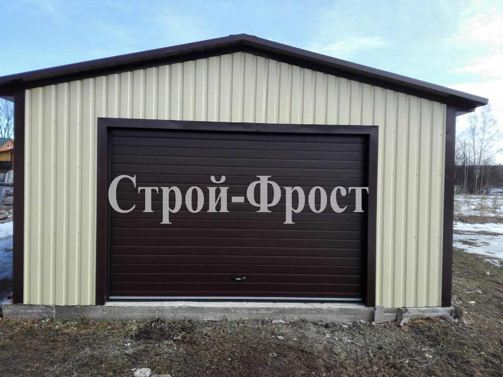 Холодный каркасный металлический гараж (из металлопрофиля)