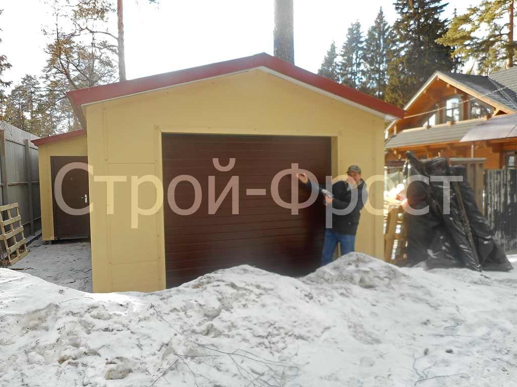 Строим гараж и жилое помещение зимой