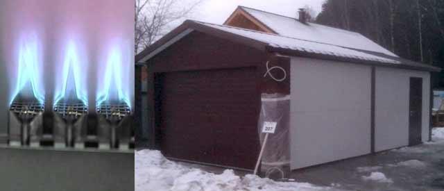 Отапливаемый гараж-мастерская из сэндвич-панелей