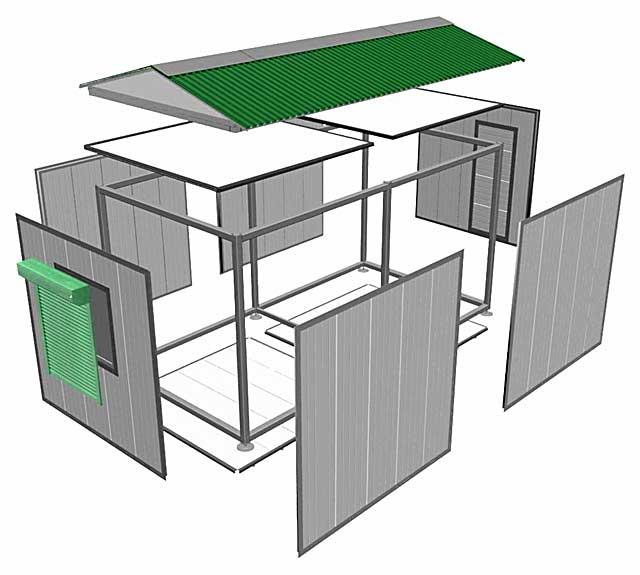 Быстровозводимые гаражи из сэндвич-панелей не нуждаются в отделке и получаются очень теплыми