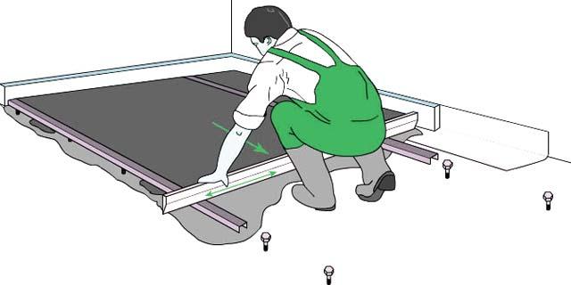 Перед тем как залить пол в гараже бетоном, желательно установить маяки