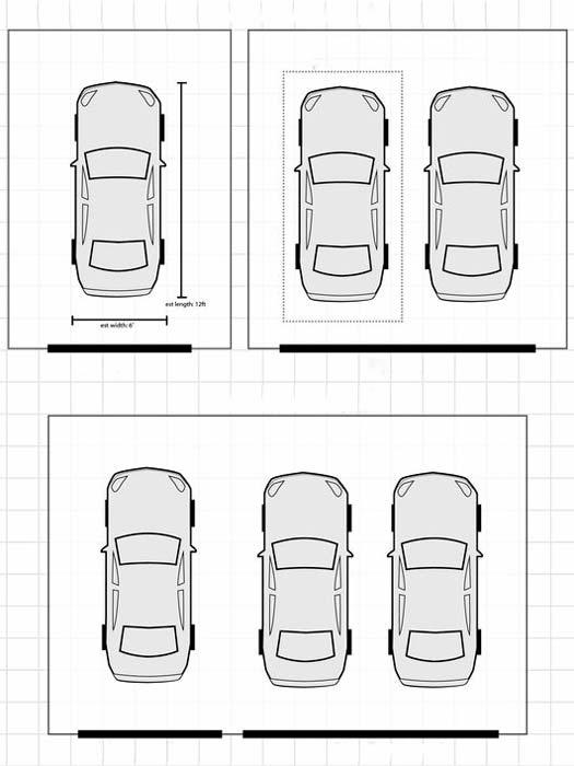 Размер ворот для гаража зависит от количества машин
