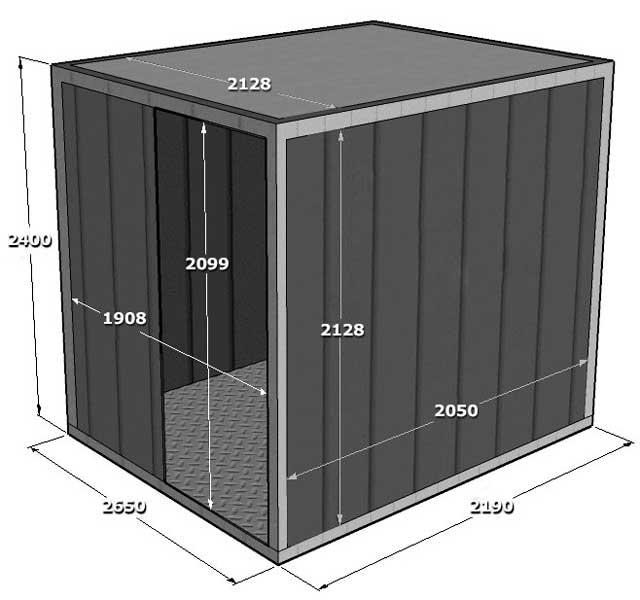 Гараж для мотоцикла или квадроцикла - 5-тонный контейнер подходит по размеру
