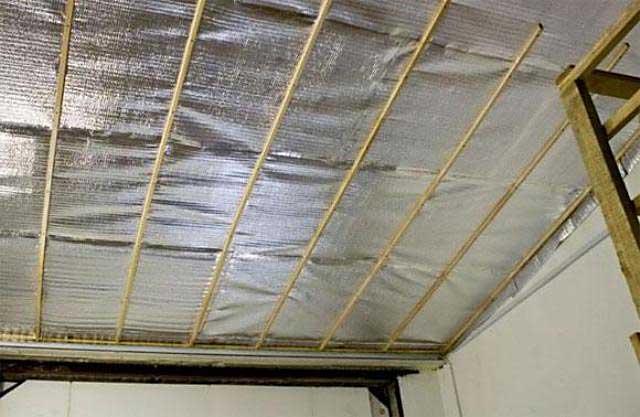 Как утеплить гараж внутри - утепление потолка