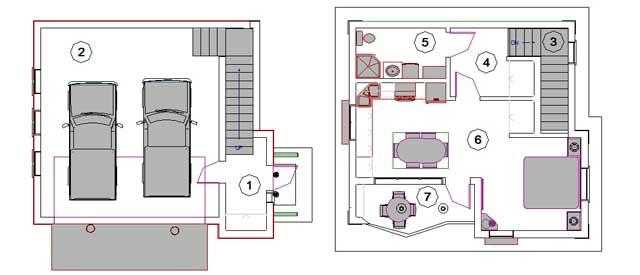 Проект двухэтажного гаража - пример