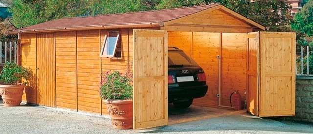 Как построить деревянный гараж своими руками