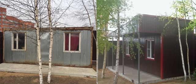 Ремонт каркасных зданий - реставрация бытовки