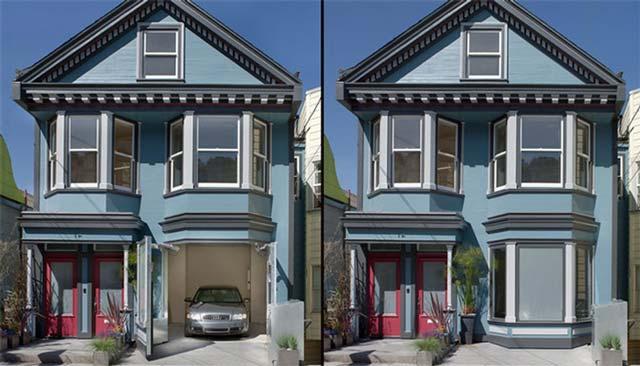 Хозяин этого дома решил построить гараж -невидимку