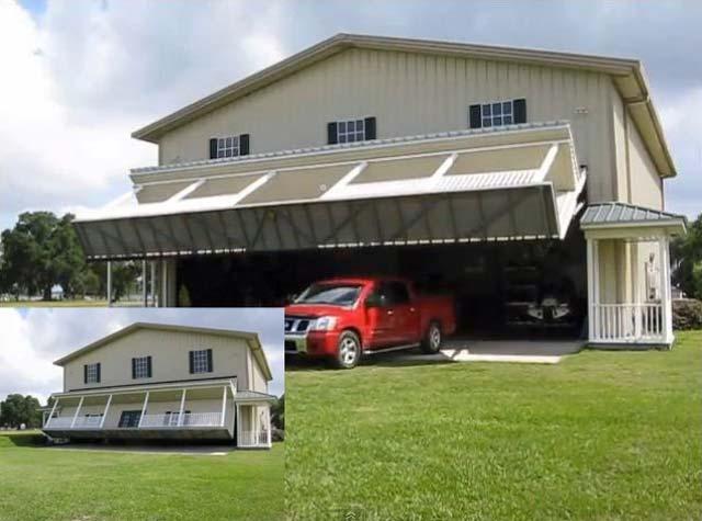 Можно построить невидимый гараж очень больших размеров