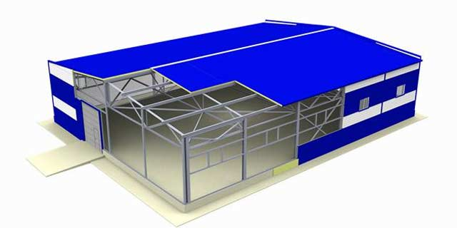 Мы строим гараж из сэндвич-панелей под ключ на мощном каркасе с запасом прочности 30%