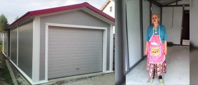 Заказ – построить гараж в Новой Москве. Видеоотзыв клиентки.