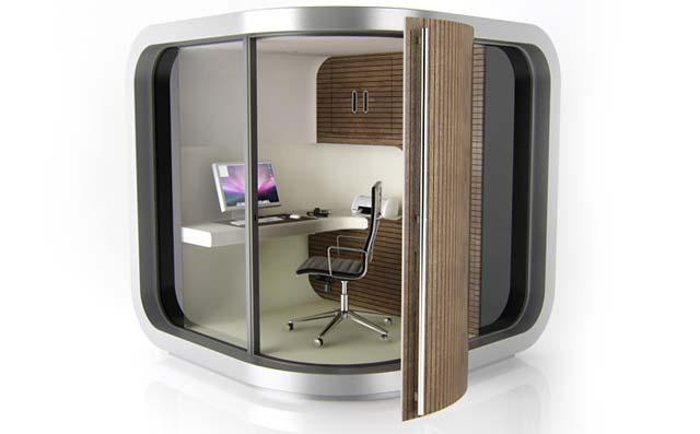Компактный офис из сэндвич панелей от OffidePod