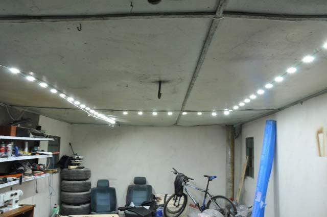 Светодиодное освещение для гаража из сэндвич панелей своими рукам