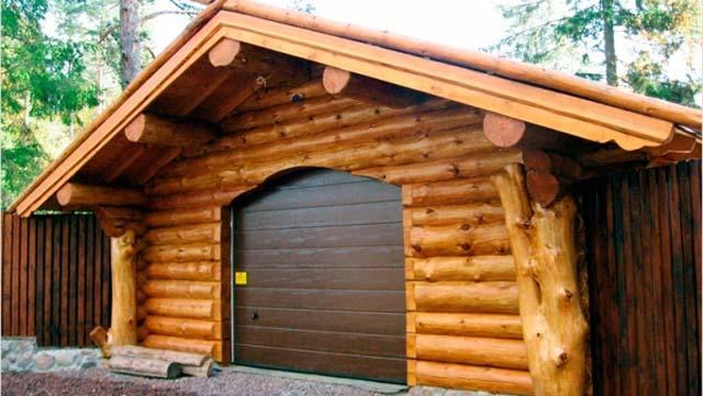 Строительство гараж из бруса своими руками 68