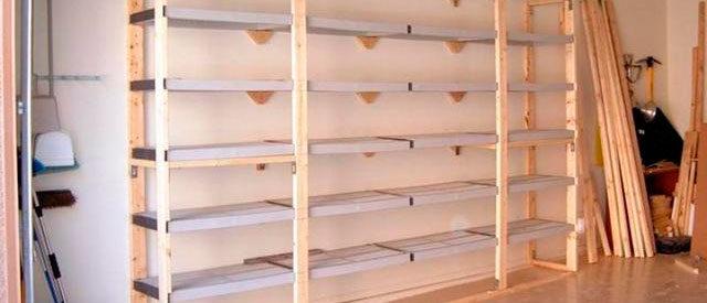 Как сделать стеллажи в гараже