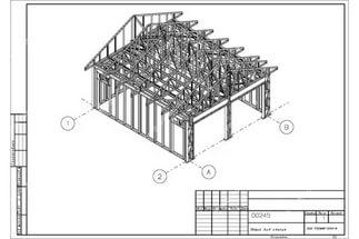 проект гаража на 2 машины с хозблоком