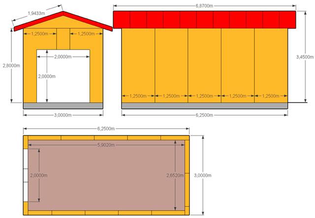 Конструкция гаража из СИП панелей предельно проста