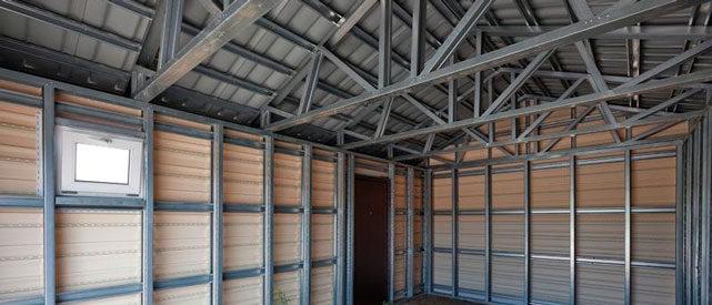 Как построить металлический гараж из профлиста - выбираем материал