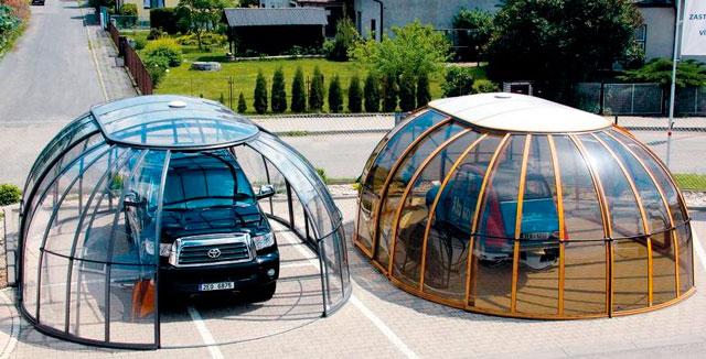 Каркасный гараж из поликарбоната со всеми вытекающими последствиями