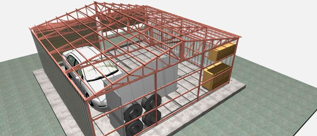 Гараж 8 на 8 - проект без излишеств, с мансардой и дом с гаражом