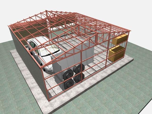 Каркасный гараж 8 на 8 - просторная и не очень дорогая постройка