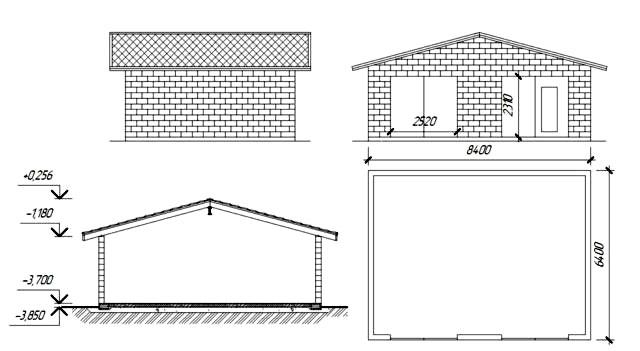 Если вы решили построить большой гараж из шлакоблоков, цена повысится не только из-за большего количества блоков, но и из-за более сложной и дорогой конструкции крыши