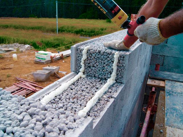 Кладка гаража из керамзитобетонных блоков должна производиться так, чтобы не было мостиков холода