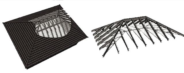 Вальмовая крыша для гаража