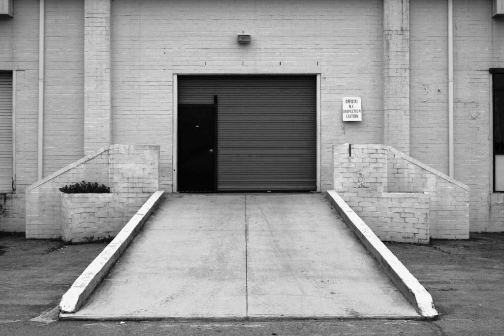 бетонная площадка перед гаражом