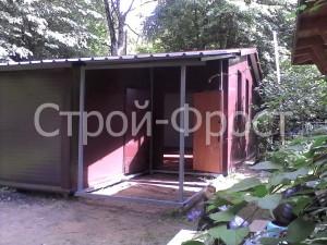 Проект гаража с хозблоком предусматривает и небольшой навес