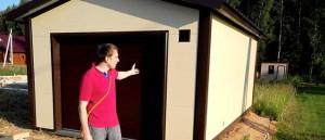 Гараж 6х4 из сэндвич-панелей, временно использовавшийся в качестве дома (видео-отзыв)