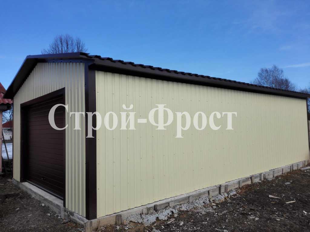 Холодный каркасный гараж из металлопрофиля