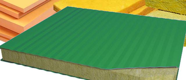 Теплоизоляция сэндвич-панелей – материалы