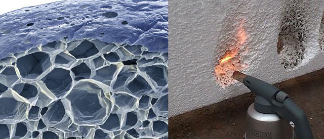 Теплоизоляция сэндвич-панелей – ячеистая структура пенополистирола и проверка огнестойкости