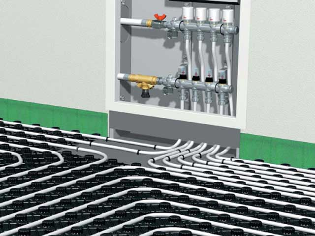 Отопления в гараже от электричества - тёплый пол