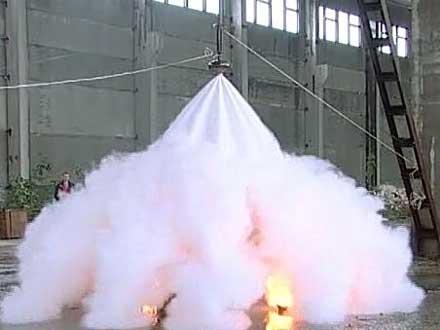 Пожарная безопасность гаража - модуль порошкового пожаротушения