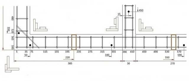 Как лучше залить ленточный фундамент - план раскладки арматуры