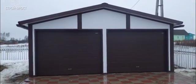 Каркасный гараж на 2 машины