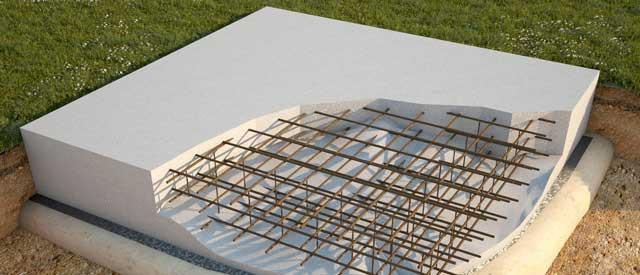 Плитный фундамент для гаража или дома
