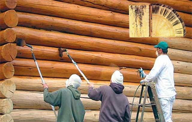 Если вы решили строить гараж или дом из дерева, не экономьте на обработке защитными средствами