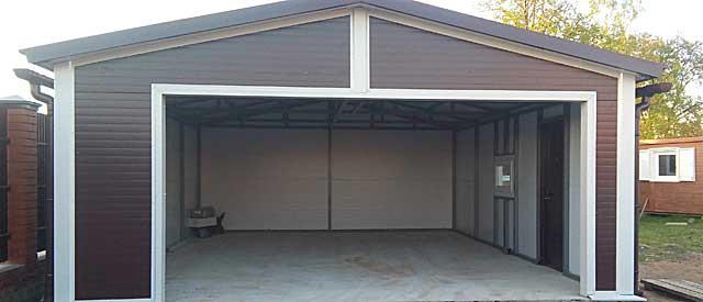 Большой каркасный гараж на 2 машины, проект возле Калужского шоссе