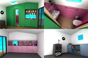 Дом из сэндвич-панелей от Джонаса Вэйгелла выглядит уютным не только снаружи, но и внутри