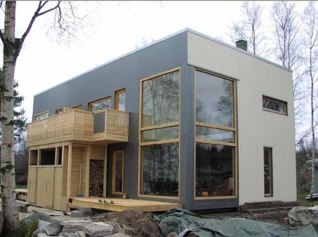 Частный дом тоже можно построить из сэндвич-панелей