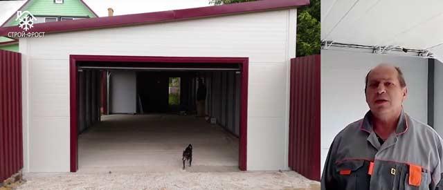 Каркасный гараж на ленточном фундаменте