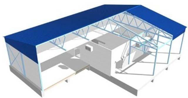 Холодильный склад из сэндвич-панелей - конструкция
