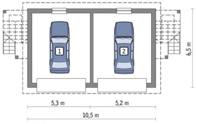 Выбираем размер гаража, при этом учитываем габаритные размер автомобилей